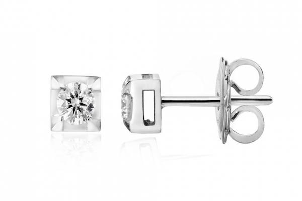 orecchini punto luce diamanti Forever Unique